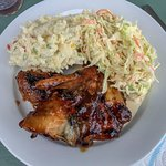 Barbecue Chicken with Coleslaw and DIVINE Potato Salad