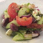 The Greek Salad was very good at Brousko (13/Apr/18).