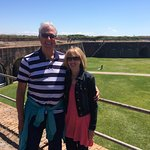 Karen & I enjoying our time at Fort Morgan