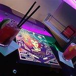 Arcade Table & Drinks!