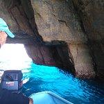 A cave at the  Blue Grotto where sea is sooooo blue