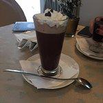 Hot chocolate - pretty sweet but good.