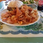 The Meatloaf Burger with Chips (Delicious)