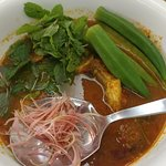 fish curry arrived on the table