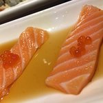 Salmon Tataki - sliced salmon / ponzu sauce / Ikura
