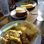 Moss Landing Scramble - Crab, shrimp, artichokes.... ($16.50 on 4-12-18)