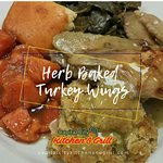 Our Sunday special consists of our Herb Baked Turkey Wings & Dressing.