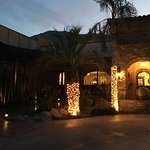 Night time glance at the entrance -