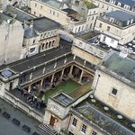 View of the Baths from Bath Abbey Tower