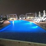 Cozy pool at night..peaceful and lovely...