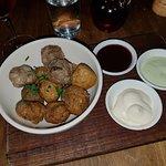 Mini meatballs. $14. HORRIBLE, HORRIBLE, HORRIBLE. I almost threw-up eating one.