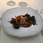 The quail dish in the tasting menu