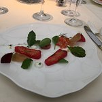 The trout course in the tasting menu