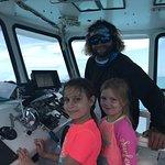 Captain let us drive the boat! Robbie's of Islamorada
