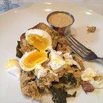 Poached eggs? More like hard boiled.