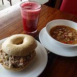 Try our Soup n Wich for lunch!