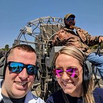 Us with our tour guide Carl on the airboat!
