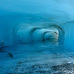Ice tube on a berg in the glacial lake!