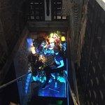 Head downstairs to the tiki bar