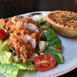 Chicken Salad & Tomato Pie