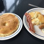 My $38 breakfast (minus the Diet Pepsi) and with the butter removed from pancake! LOL
