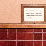 sign in the bathroom ;)