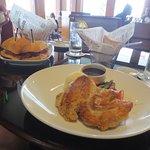 Boneless chicken an snapper fish sandwich! Yummy!