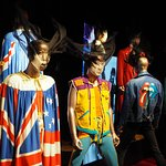Many band costumes on display in both exhibits