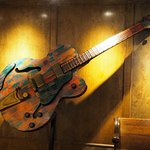 One of the giant guitars in the lobby