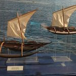 Models of old Sri Lanka fishing boats in the Maritime Museum