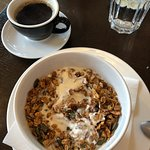 Good range of options on the breakfast menu, and the granola was great