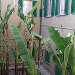 Vista sul cortile interno della camera 1.