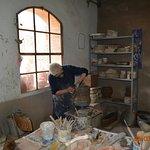 Visiting a kiln in Impruneta
