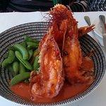 Garlic prawns, BBQ Bugs & Atlantic Salmon