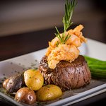 Amazing Steak and Fried Lobster Tail