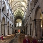 Inside Chichester Cathedral with the very helpful ladies