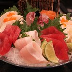 this is the sashimi combo dish, so nice and beauty