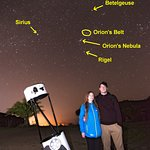 Gauthier took this wonderful photo for us - and gave us a separate version with star names on