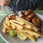 Black grouper platter.