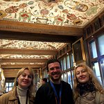 At the Uffizi Gallery with my nice Russian customers