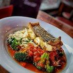 Crisp Fried Hake ~ Rice ~ Hot & Sour Vegetables