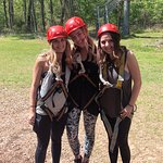Before zip-lining! They explained everything so clearly and simple!