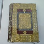 Gospel cover - gilded silver, enamel and coloured stones