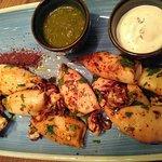 Baby squid BBQ with harissa