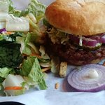 always great burger and side salad