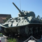 Tank on display