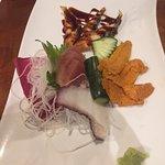 Uni, white tuna, octopus, grilled eel