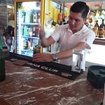 La Casa del Mojito - Johnny making Mojito for me