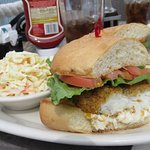Tasty fish sandwich - Waterfront Cafe