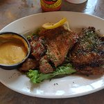 Grilled Alligator with a Tangy/Sweet Mustard Dip